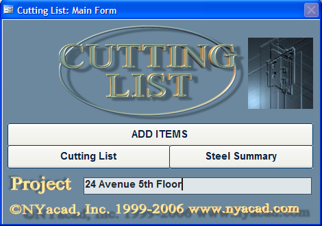 Click to view Cutting List 01 screenshot