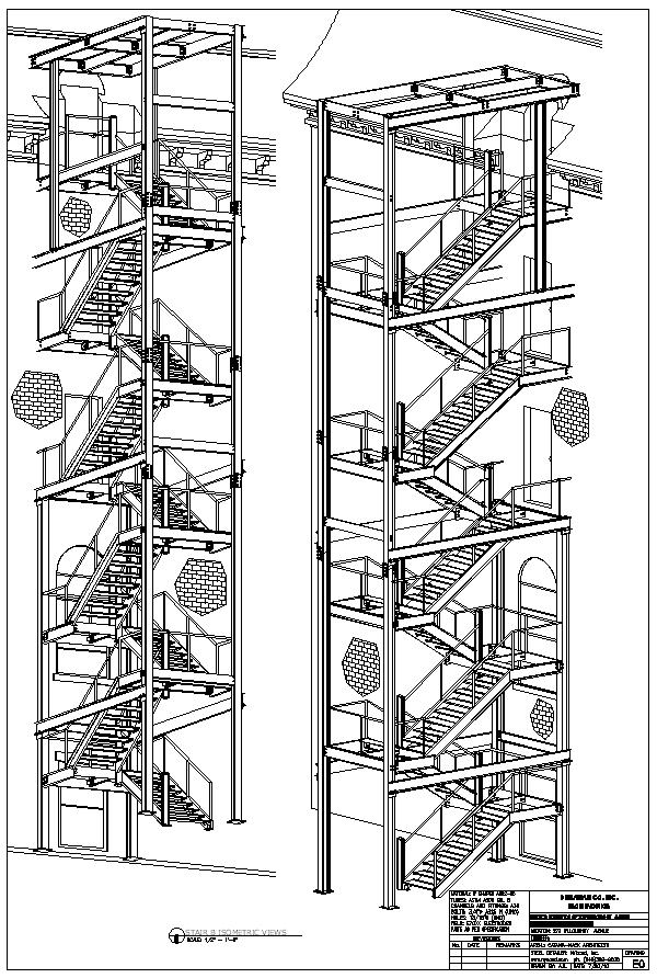 Nice Fire Escape. Stair B. Plans