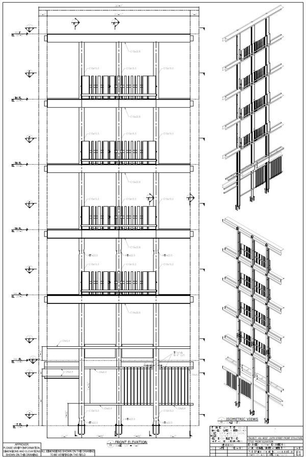 Steel Frame. Plans. Sections. Details. Open Drawings. Fire Escape Stair